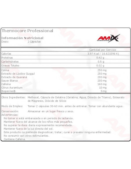 ThermoCore Professional 90 caps - Amix Nutrition